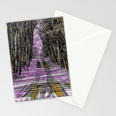 Road Through The Mystical Forest Stationery Cards