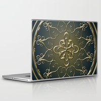 nemo Laptop & iPad Skins featuring Golden Nemo Pattern by Britta Glodde