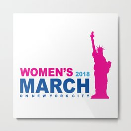 Womens March 2018 Metal Print