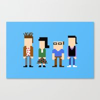 seinfeld Canvas Prints featuring Seinfeld in 8 Bit by AutoMasta