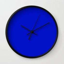 Ultra Marine Blue Wall Clock