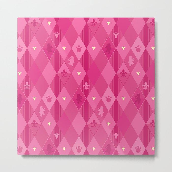 Pink Lily Bears Metal Print
