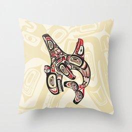 Eagle Killer Whale Throw Pillow
