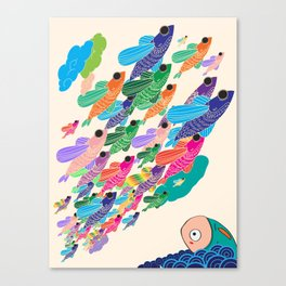 The fish that wished to fly Canvas Print