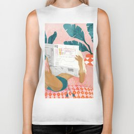 Morning News Biker Tank