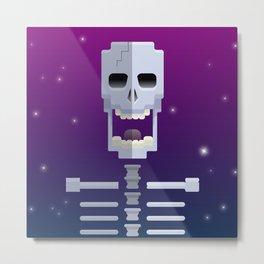 Cosmic Skull Metal Print