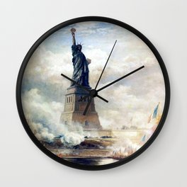 Statue of Liberty Unveiling Wall Clock