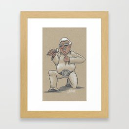 Captain Karaoke Framed Art Print