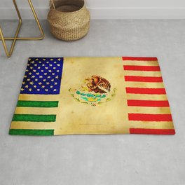 MEXICAN AMERICAN FLAG - 017 Rug
