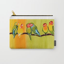 Sweetheart Birds Carry-All Pouch