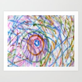 Rainbow colours Art Print