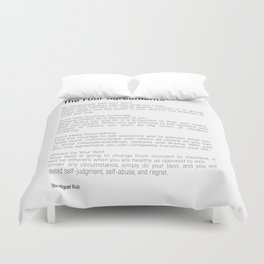 The Four Agreements #blackwhite #minimalism Duvet Cover
