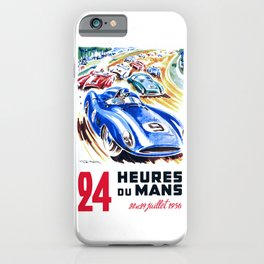 1956 24 Hours of Le Mans Race Poster iPhone Case