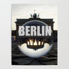 Brandenburg Gate sunset, Berlin Poster