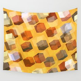 transparent cubes Wall Tapestry