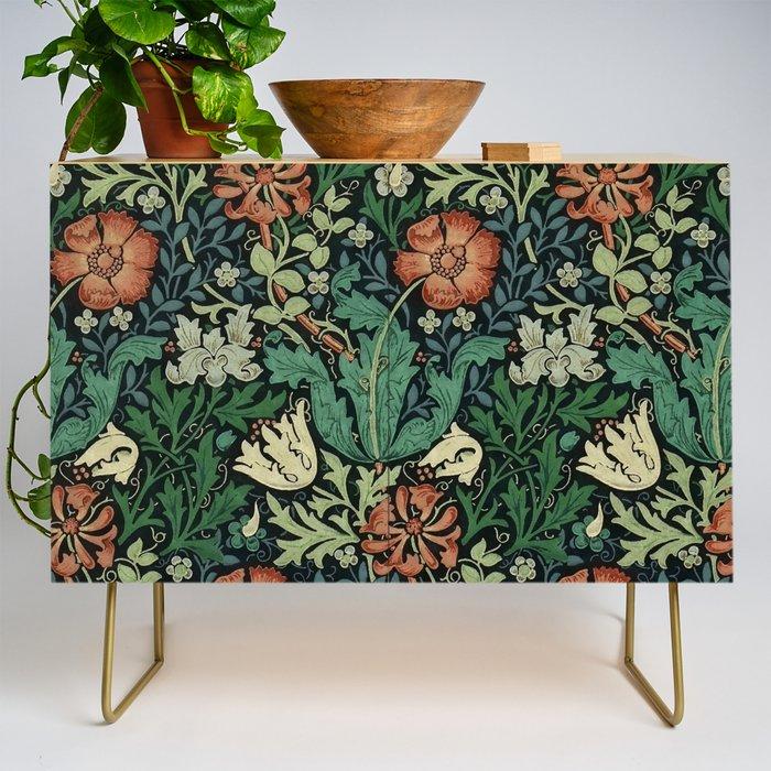William Morris Compton Floral Art Nouveau Pattern Credenza