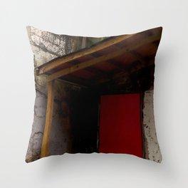 Red Door District Throw Pillow