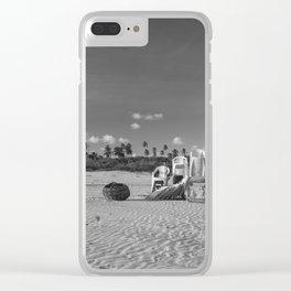 Beach Scenario Clear iPhone Case