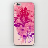 hibiscus iPhone & iPod Skins featuring Hibiscus by Magenda
