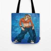 hiphop Tote Bags featuring HipHop by Don Kuing