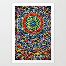 The small wool mandala Art Print