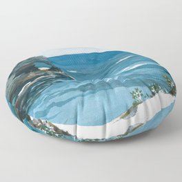 Winslow Homer1 - Rocky Shore, Bermuda - Digital Remastered Edition Floor Pillow