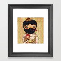 A Great Catch Framed Art Print