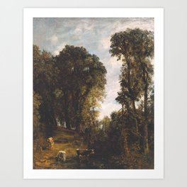 John Constable 1776–1837   Trees at Hampstead Art Print
