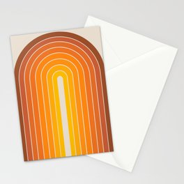 Gradient Arch - Vintage Orange Stationery Cards
