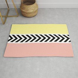 Black and white arrows Rug