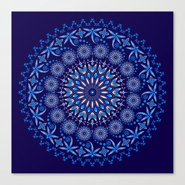 Ancestors Dragonfly (Blue) Canvas Print