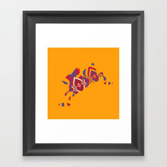 The Invisible Rabbit Framed Art Print