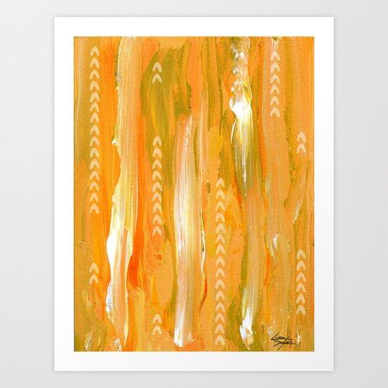 LYRIC | gold Art Print