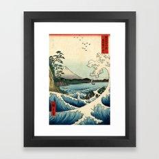 Utagawa Hiroshige The Sea at Satta in Suruga Province Framed Art Print
