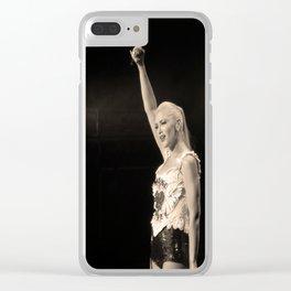 mic drop Clear iPhone Case