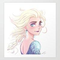 elsa Art Prints featuring Elsa by AndytheLemon
