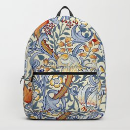 William Morris Golden Lily Victorian Wallpaper Backpack