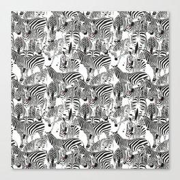 ZEBRI ZEBRA / pattern pattern Canvas Print