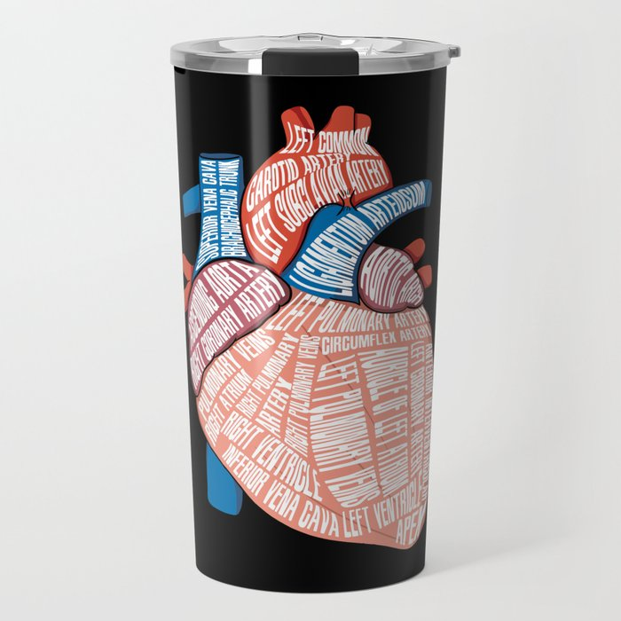 Anatomical Heart - For Cardiac Nurse Cardiologists Travel Mug
