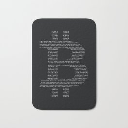 Bitcoin Binary Black Bath Mat