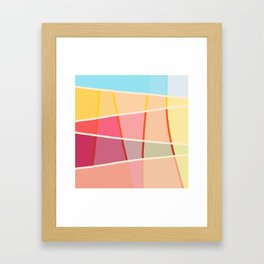 Colorful Design Sunshine Framed Art Print