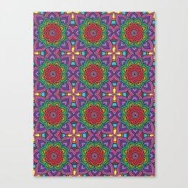 Rainbow Flowers Canvas Print