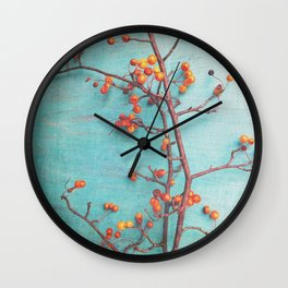 She Hung Her Dreams on Branches Wall Clock