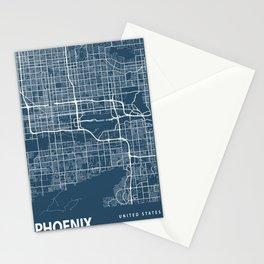 Phoenix Blueprint Street Map, Phoenix Colour Map Prints Stationery Cards