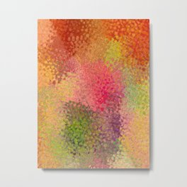 Abstract art watercolor minimalist poster orange Metal Print