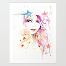 Galaxy Woman Art Print