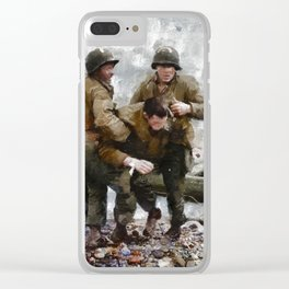 D Day Landings, WWII Clear iPhone Case