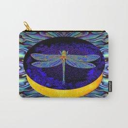Mystical Midnight- Blue Moon  Gossamer Dragonfly Art  Carry-All Pouch