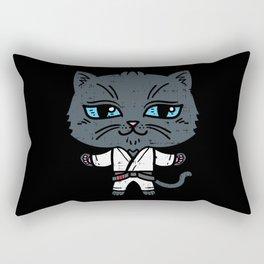 Kawaii Cat in BJJ Uniform Rectangular Pillow