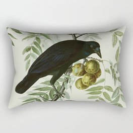 Vintage Crow Illustration Rectangular Pillow